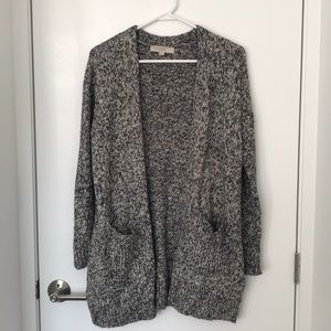 Chunky grey marble knit cardigan
